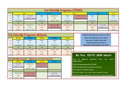 Yaz Etkinliği Programı (TÜMÜ)