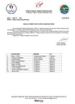 Bayburt - Türkiye Masa Tenisi Federasyonu