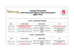 Amasya Üniversitesi Proliz Üniversite Öğrenci İşleri Otomasyonu