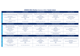 BÜMED MEÇ Okulları  Haziran 2016   Yemek Listesi