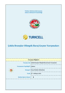 dekatlon – genç erkekler - Türkiye Atletizm Federasyonu