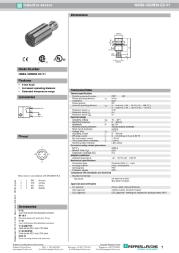 Technical data sheet (English)