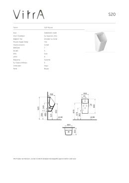 Tanım S20 Pisuvar Kod 5461B003-0199 Ürün Özellikleri Su