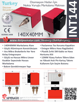 140X40MM Markalama Alanı - Nokta Vuruşlu Markalama Makinası