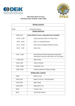 DEİK Türkiye-Filistin İş Forumu 29