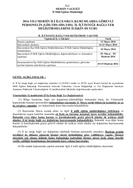 Açıklamalar ve Başvuru Formu - Mersin İl Milli Eğitim Müdürlüğü