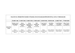 maliye ıı. öğretim tezsiz yüksek lisans bahar dönemi final sınav