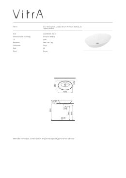 Tanım Geo Oval Çanak Lavabo, 60 cm Armatür Deliksiz, Su