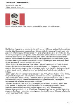 Klaus Modick: Koncert bez básníka