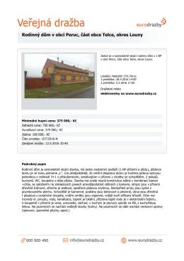 Rodinný dům v obci Peruc, část obce Telce, okres Louny