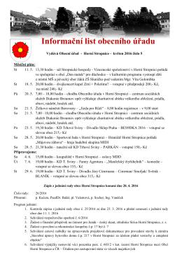 Informační list obecního úřadu