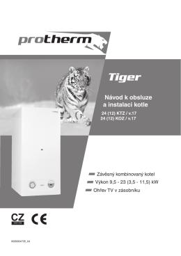 Návod k obsluze Tiger