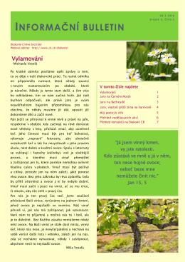 Informační bulletin Diakonie CB
