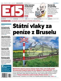 Státní vlaky za peníze z Bruselu