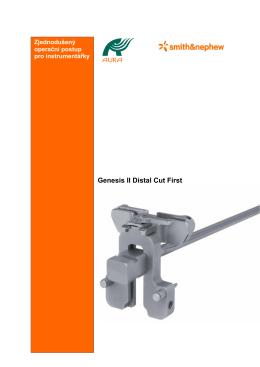 Op. postup instrumentářky GII distal cut+Visionaire