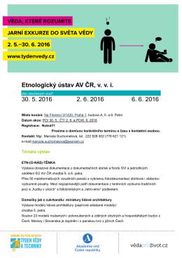 Pozvánka ke stažení - Etnologický ústav AV ČR, .vvi