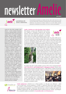 Newsletter Amelie jaro 2016