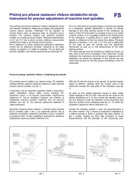 FS Přístroj pro přesné nastavení vřetena obráběcího stroje