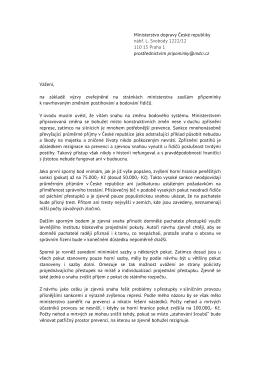 Ministerstvo dopravy České republiky nábř. L. Svobody