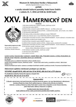 XXV. HAMERNICKÝ DEN