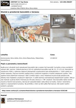 Slunné a prostorné kanceláře s terasou