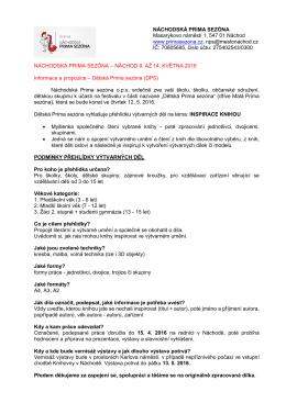 Dětská Prima sezóna - Festival Náchodská Prima sezóna