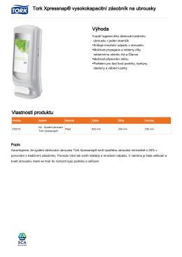 Tork Xpressnap® vysokokapacitní zásobník na ubrousky Výhoda