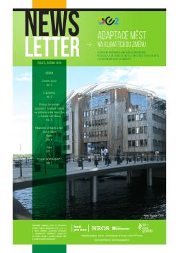 Newsletter Adaptace měst na klimatickou změnu 6/2016