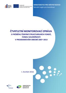 čtvrtletní monitorovací zpráva