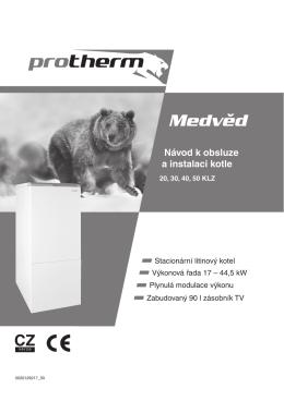 Návod k obsluze Medvěd