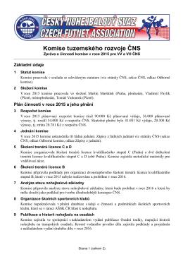 Zpráva o činnosti KTR za rok 2015