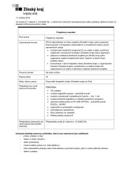 Odbor řízení dotačních programů, uzávěrka 26. 5. 2016