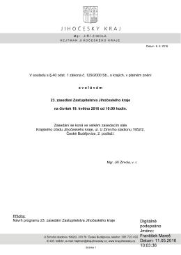 Digitálně podepsáno Jméno: František Mareš Datum: 11.05.2016 10
