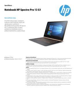 Notebook HP Spectre Pro 13 G1
