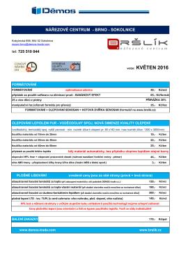 Ceník a služby pro Brno ke stažení v pdf