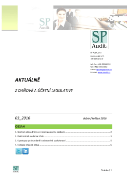 Bulletin SP Audit 03/2016