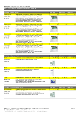 EZS - zabezpečovací ústředny - systémy