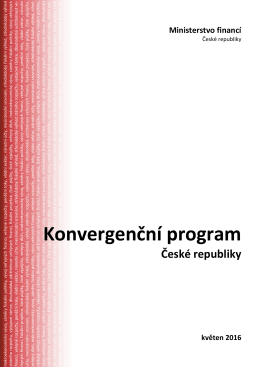 Konvergenční program ČR - Ministerstvo financí ČR