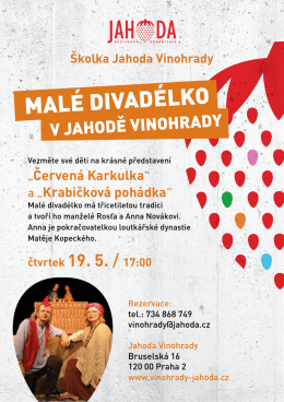 malé divadélko - Jahoda Vinohrady