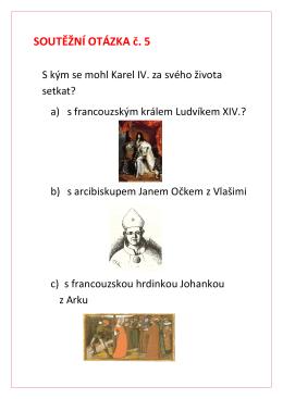 SOUTĚŽNÍ OTÁZKA č. 5