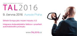 Pozvánka na TAL2016