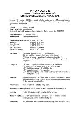 propozice - Krajská rada seniorů Moravskoslezského kraje