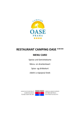 restaurant camping oase