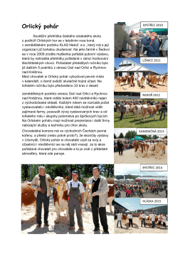 Orlický pohár - Svaz chovatelů českého strakatého skotu