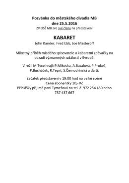 pozvánka do Městského divadla v Mladé Boleslavi