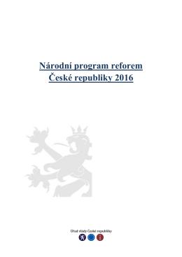 Národní program reforem České republiky 2016
