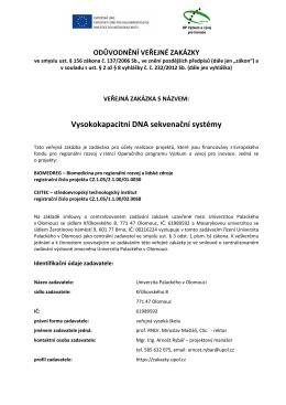 ÚMTM - DNA sekvenační odůvodnění VZ - E