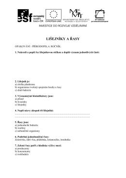 Pr6_04_2016_Opakovani - Lisejniky a rasy_AH