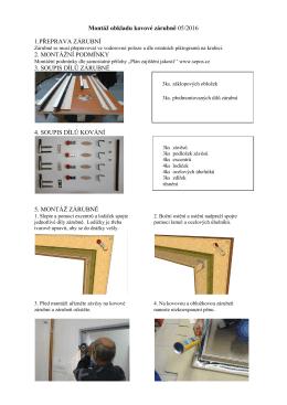 Montáž obkladu kovové zárubně 05/2016 1.PŘEPRAVA