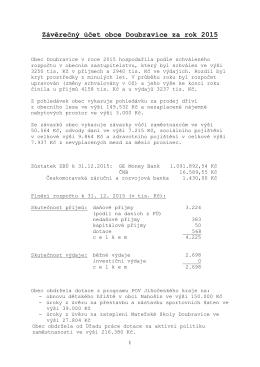 Závěrečný účet obce Doubravice za rok 2015